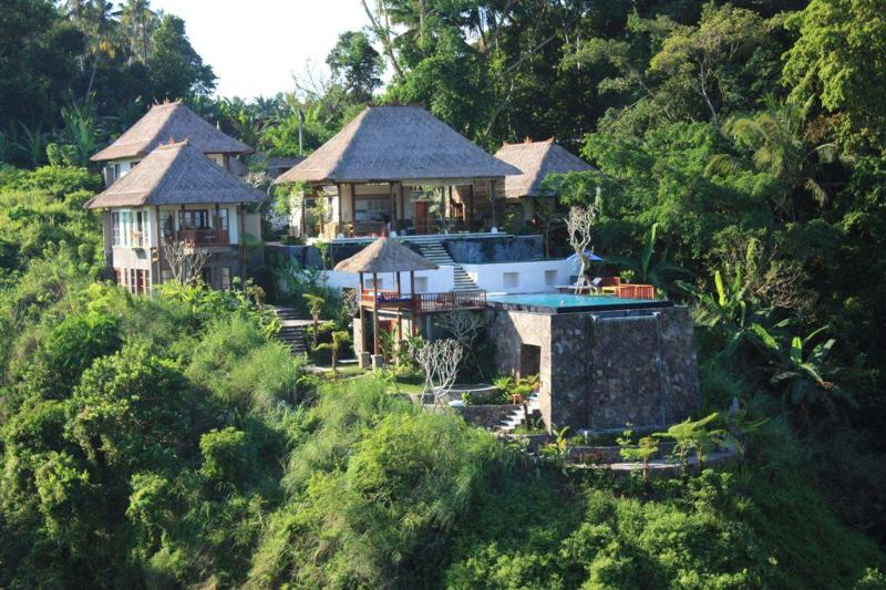 Amori Villa - view from across the river - Amori Villas: Luxury Ubud Retreat - Ubud - rentals