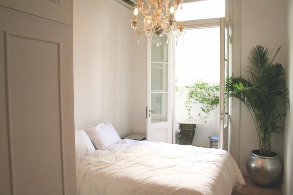View of bedroom/ balcony - Perfect French style Recoleta studio: balcony/WiFi - Buenos Aires - rentals