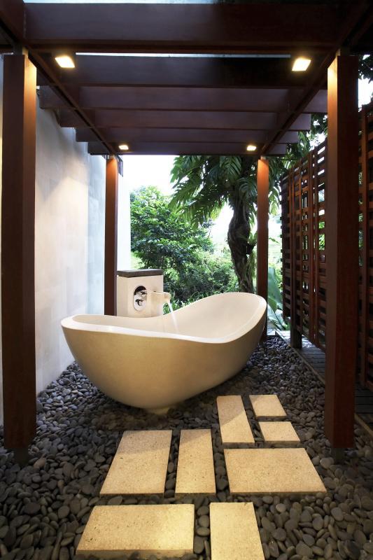 Riverside Bath Tub - Canggu Bali Villa Tukad Pangi Riverside Modern 3 bdrm - Bali - rentals