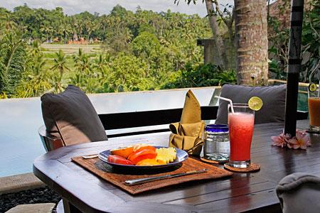 Al Fresco Breakfast at Ria Sayan - Ria Sayan Ubud Bali Romantic Villa - Valley Views - Ubud - rentals