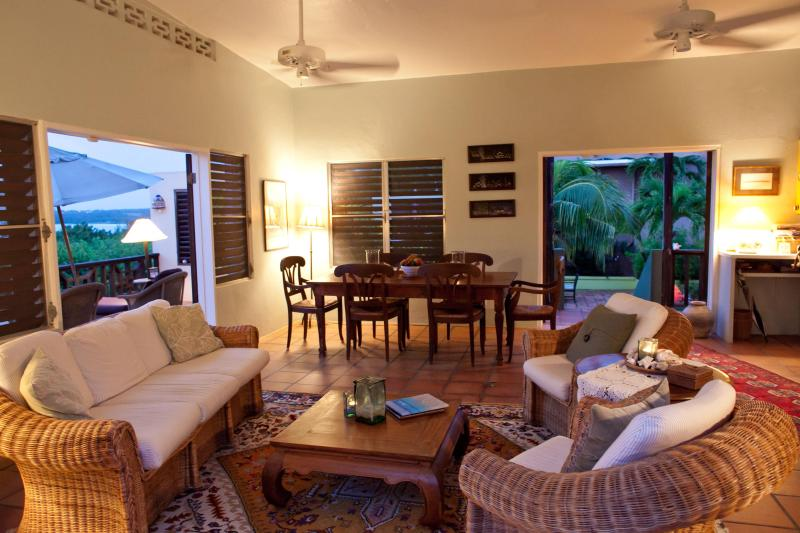 Living/Dining Room - Fabulous Ocean View - Bayberry and Chinaberry - - The Valley - rentals