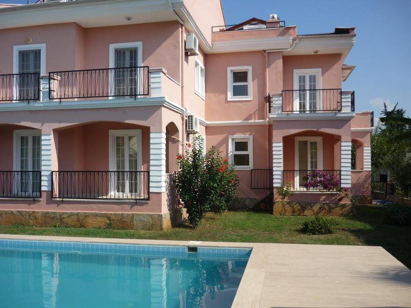Ayyildiz apartment  from pool - VILLA BEGONIA APARTMENTS IN FETHIYE: GARDEN+POOL - Fethiye - rentals