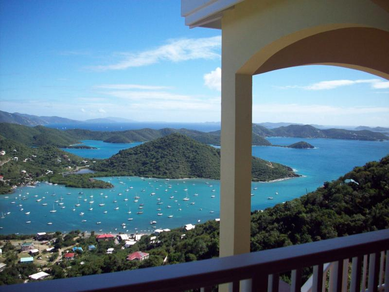 View from the spacious veranda - Island Horizons Villa   -  A million dollar view! - Coral Bay - rentals