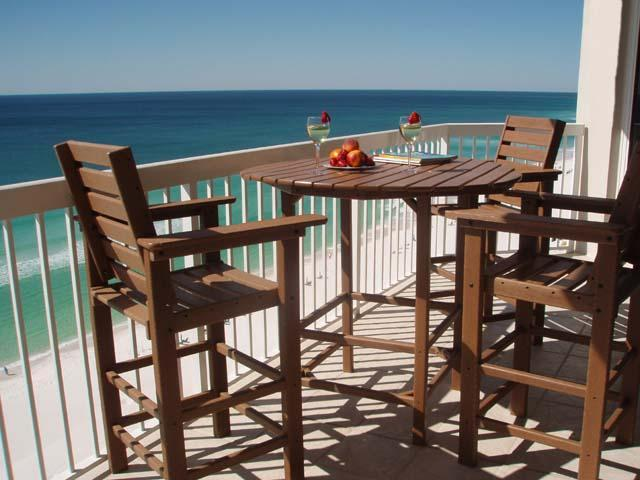 Balcony Gulf View - BeachFront Gorgeous View C Dolphins from balcony 2 - Destin - rentals