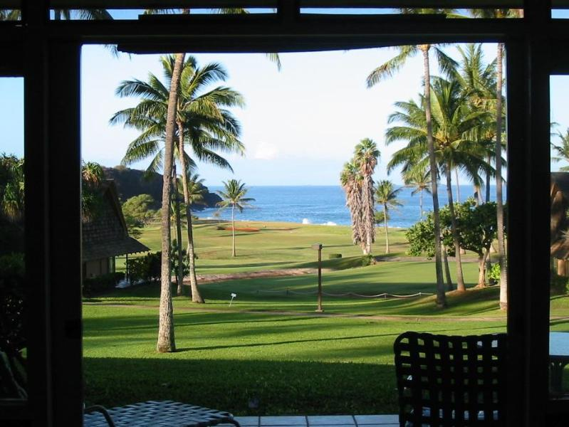 Oceanview from living room - Incredible whitewater 1BR ocean view condo - Maunaloa - rentals