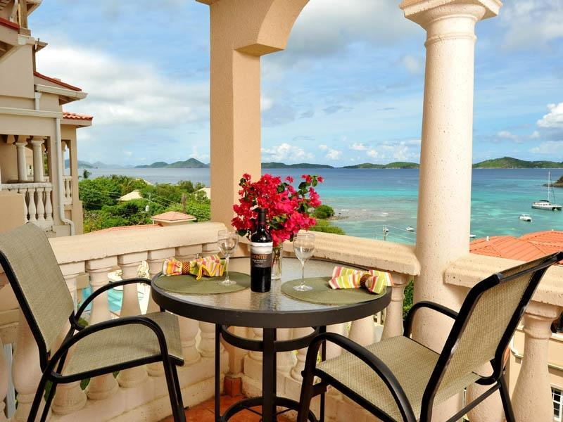 The view from our balcony - GRANDE BAY:CRUZ BAY:STUDIO/1 & 2 BR: GREAT REVIEWS - Cruz Bay - rentals