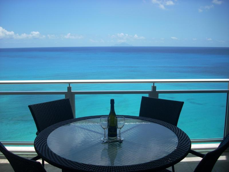 Panoramic View of Caribbean Sea from Main Balcony - The Cliff-Last-minute Discount June 14-21-$199/nt - Cupecoy Bay - rentals