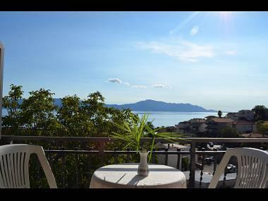 A2(2+1): terrace - 00313GRAD  A2(2+1) - Gradac - Gradac - rentals