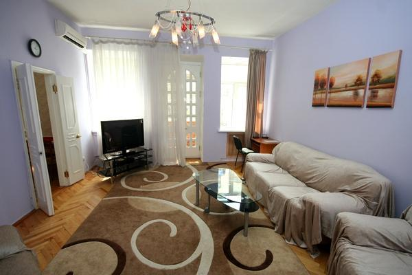 Living Room - 216, 20 Mala Zhitomirska, 2-bedr close to Maydan - Mriya - rentals