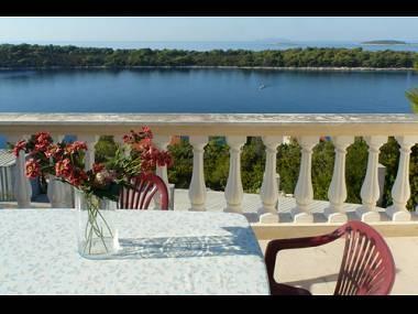 A1(4+1): terrace view - 2799 A1(4+1) - Cove Karbuni (Blato) - Vela Luka - rentals