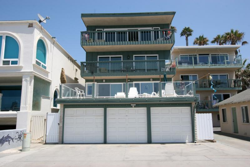 This is a view of our building from the sand. - *Special Rate*-Cottage Window-Ocean Front Apt. - Oceanside - rentals