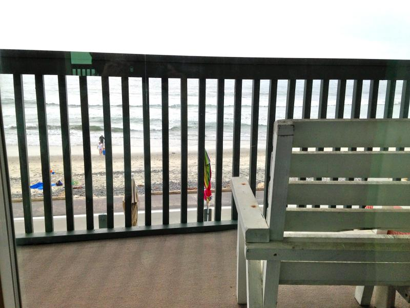 This is your private deck over looking the sand and it spans the length of our building. - Cottage Charm amazing full ocean view Oceanside - Oceanside - rentals