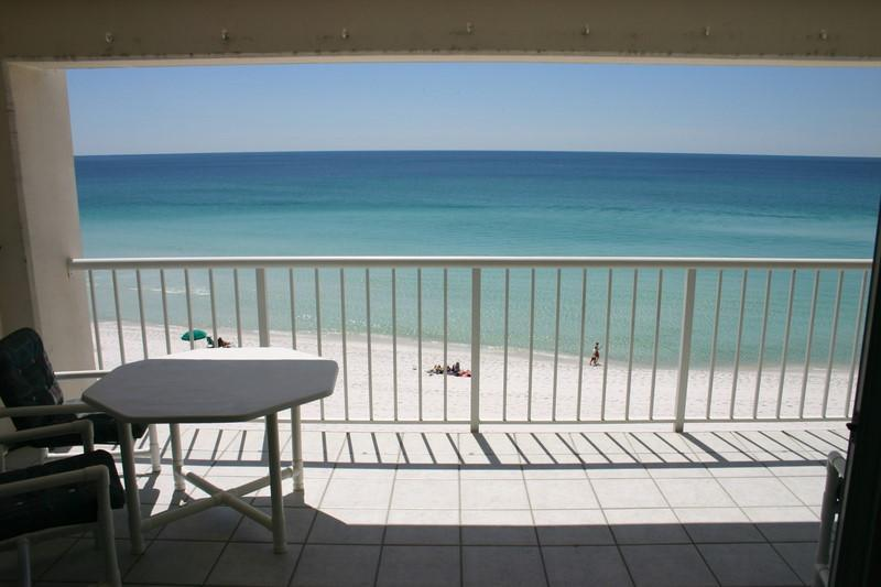 View from Living Room; high enough for privacy but low enough for great beach and water views. - #401-Destin Gulfgate-Trip Advisor #1 rated - Destin - rentals