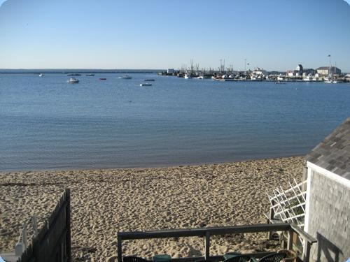 View from our common deck - Studio #13 w/ sun deck, waterviews, center of town - Provincetown - rentals