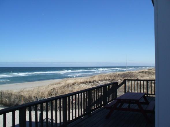 Panoramic Views Of East Sandwich Beach and Cape Cod Bay from the Home's Ocenfront Deck - Cape Cod Beachfront  Home with Panoramic Views - East Sandwich - rentals