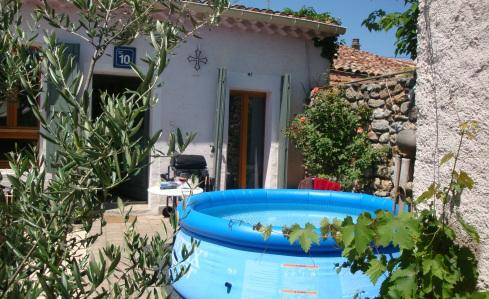 Pool will be changed for a small jacuzzi - Cottage with sunny private garden and plunge pool - Pouzolles - rentals