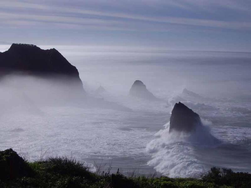 View directly south of Sea & River House to cove. - Spectacular Ocean Front Rental on Mendocino Coast - Mendocino - rentals