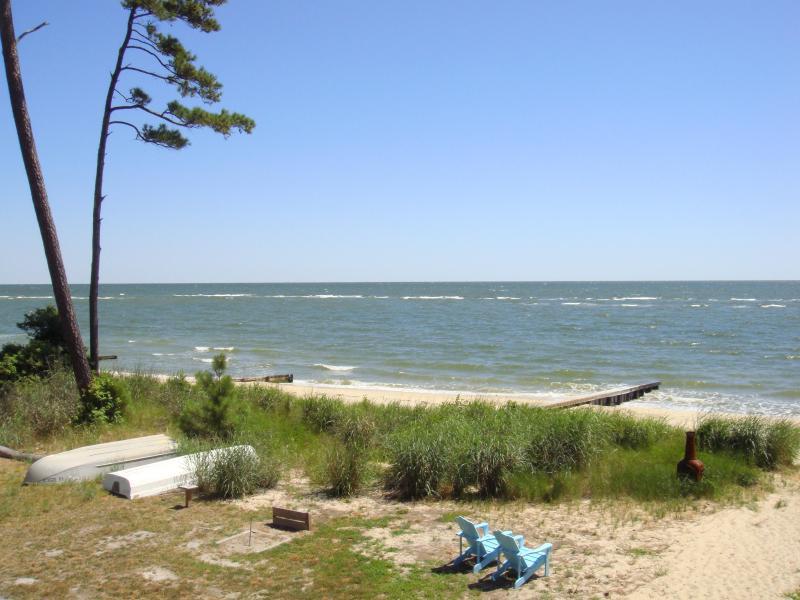 View from second level deck - Virginia Chesapeake Bay Beachfront - Chesapeake - rentals