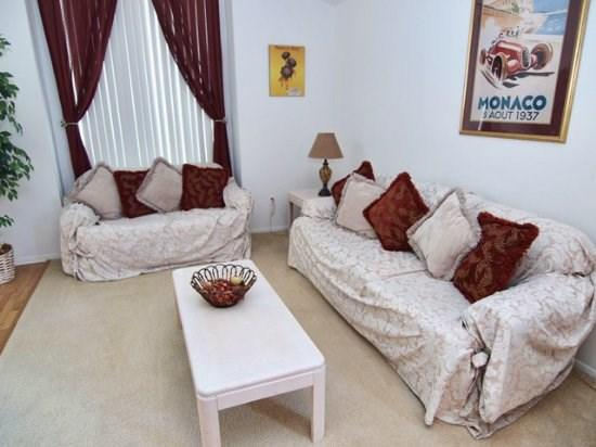 Living Area - DL4P139SD 4 BR Vacation Home with Wireless Internet and Games Room - Orlando - rentals