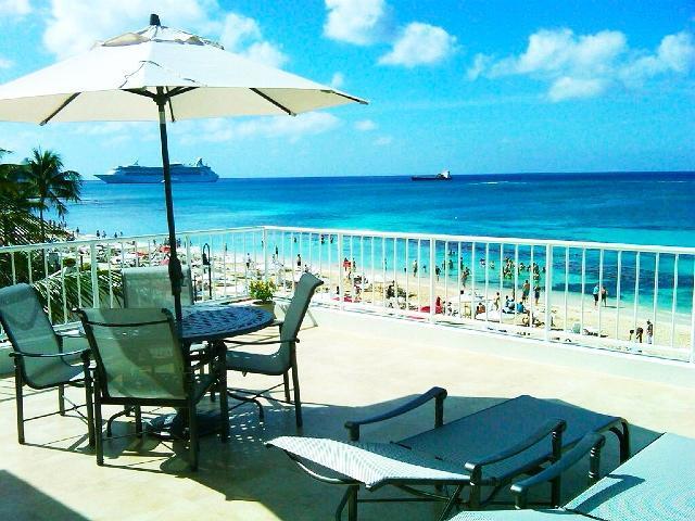 Unbeatable Views from condo's unique exclusive prvate supersize patio, 7 Ml Bch! - Ultimate Oceanfront Penthouse W Unbeatable Views!! - Seven Mile Beach - rentals