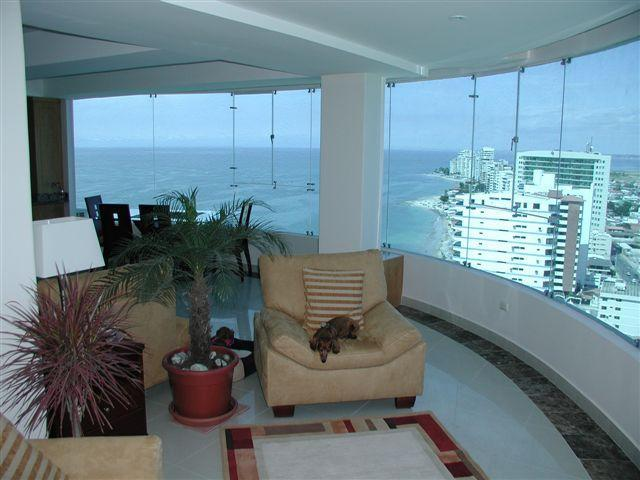 Seating area for two in main living area - Salinas Ecuador 20th Floor Spectacular Two Bed Con - Salinas - rentals