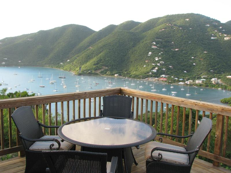 Enjoy dinner and drinks on the deck overlooking Coral Bay, St. John - Amazing Ocean Views of Coral Bay! 1 BR - Saint John - rentals