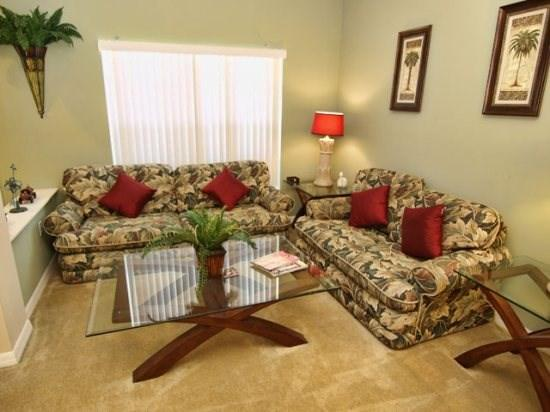Living Area - WHAS5P524BD 5 Bedroom Home with 6 TVs, PS2 with Games, WiFi - Orlando - rentals