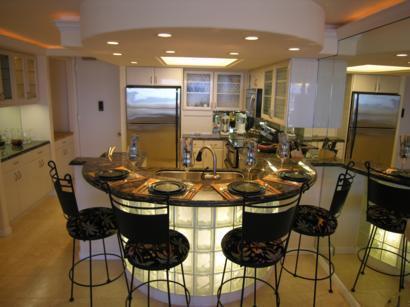 Custom Gourmet Kitchen - 1 Bedroom Waikiki Oceanfront Condo, Ilikai Marina - Honolulu - rentals