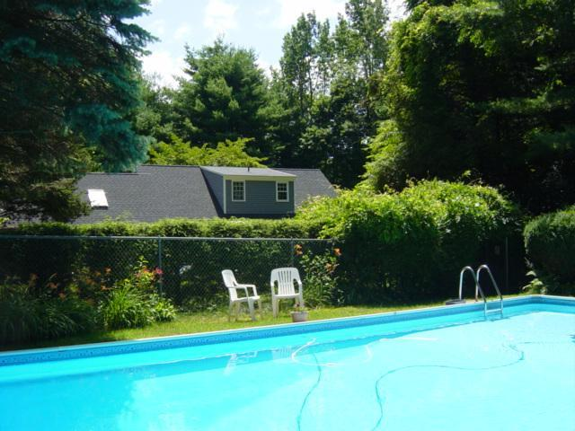 View of the house from the pool gated area. - 20'x40' inground private pool just for you&house with 4bedrooms - New Milford - rentals