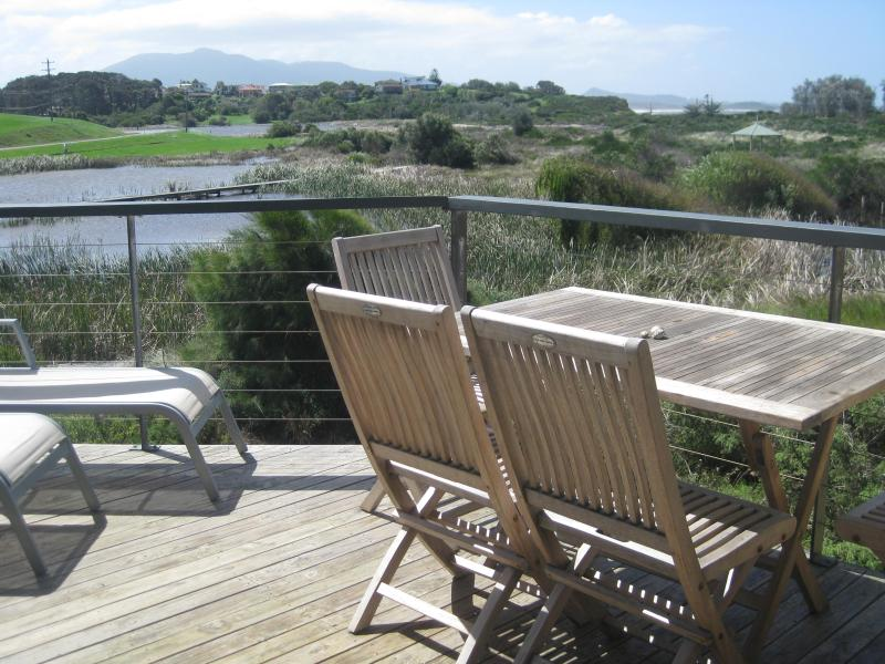 North facing deck ocean, mountain & wetland views - Luxury 3 Bdm Beachfront Townhouse see birds whales - Bermagui - rentals