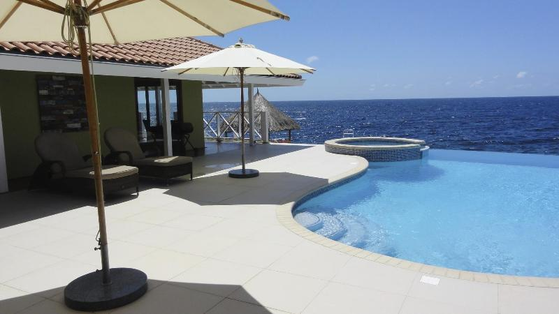 Pool with fantastic view - Curacao Oceanfront Villa great for Snorkeling and Diving - Willemstad - rentals