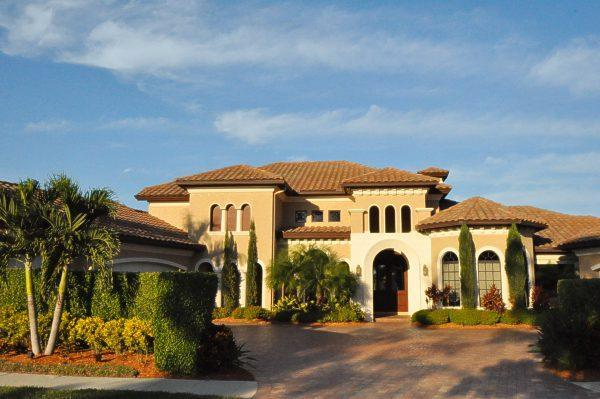 Front of the Estate Home - 4 BR - 5500 sq ft house in North Naples with golf - Naples - rentals