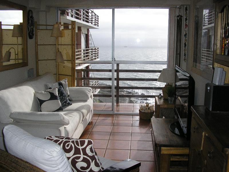 OHR - Full living room with ocean views - Ocean High-Rise Apartment Rental in Mar del Plata - Mar del Plata - rentals