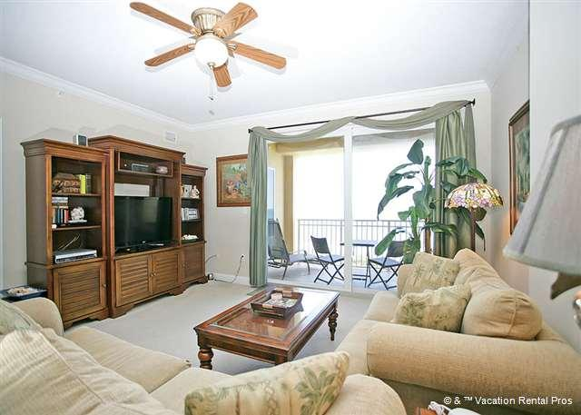 Sit back on our comfortable couches and enjoy the ocean views - Surf Club III 708, Beach Front, 7th Floor, 3 Bedrooms, 3 Pools - Palm Coast - rentals