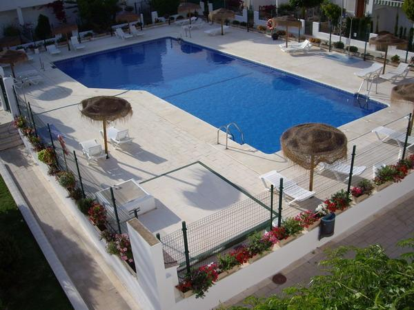 Communal Pool as seen from sun terrace - 3 bed apartment, Garrucha, Costa Almeria, Spain - Garrucha - rentals