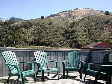 Small Deck Off Kitchen - The Rudolf-Feller Property - Stinson Beach - rentals