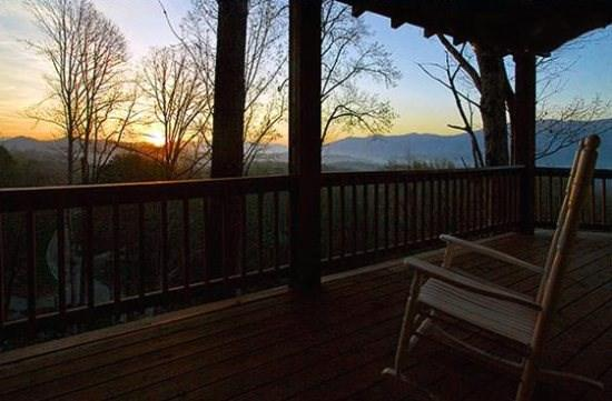 Enjoy the Porch Any Time of Day - Black Bear Crossing - Delightful Rental with Amazing View, Wi-Fi, and Xbox 360 - 3 Minutes from the Great Smoky Mountains Railroad - Main Floor Wheelchair Accessible - Bryson City - rentals