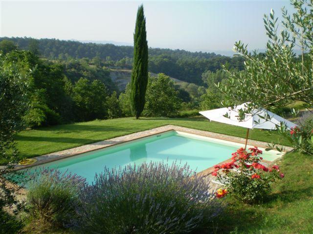 pool - Private Holiday Villa Cerqualto 8p., Panorama Pool - Citta della Pieve - rentals
