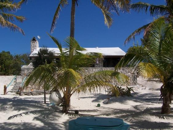 Standing on the beach looking at the house - Shangri -La  -  Cat Island, Bahamas - Cat Island - rentals