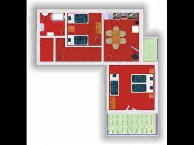A2(5): floor plan - 2990 A2(5) - Slatine - Slatine - rentals