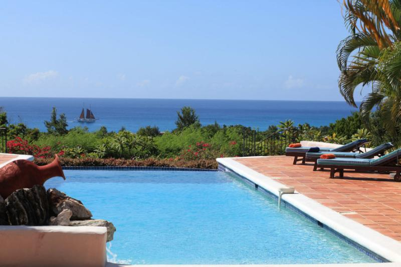 La Pergola, a 4BR vacation rental in Terres Basses, St Martin 800 480 8555 - LA PERGOLA...Beautiful tropical retreat w/ 4 master suites Great Couples Villa...Fully Air Conditioned! - Terres Basses - rentals