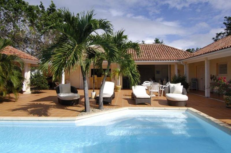 Villa La Nina, Terres Basses, St Martin  800 480 8555 - LA NINA... includes Tennis Court & Gym for 2 lucky couples or small family - Terres Basses - rentals