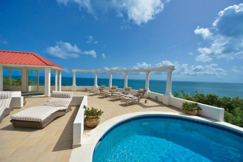Terrasse De Mer...Terres Basses, French St. Martin - TERRASSE DE MER...Gorgeous villa, breathtaking view of Baie Rogue Beach. - Baie Rouge - rentals