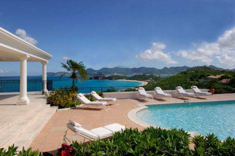 Villa Beaulieu, Terres Basses, St Martin  800-480-8555 - BEAULIEU... Stunning views from this gorgeous villa - Baie Rouge - rentals