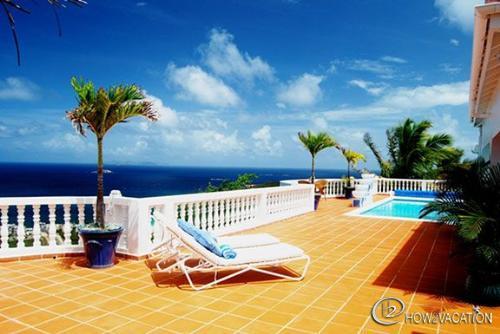 Beautiful Villa Vista, 3 BR rental villa in Dutch St Maarten - BEAUTIFUL VILLA VISTA...in a gated community in Red Pond EstatesVILLA VISTA...  Lovely couples villa with beautiful views of Guana Bay - Guana Bay - rentals