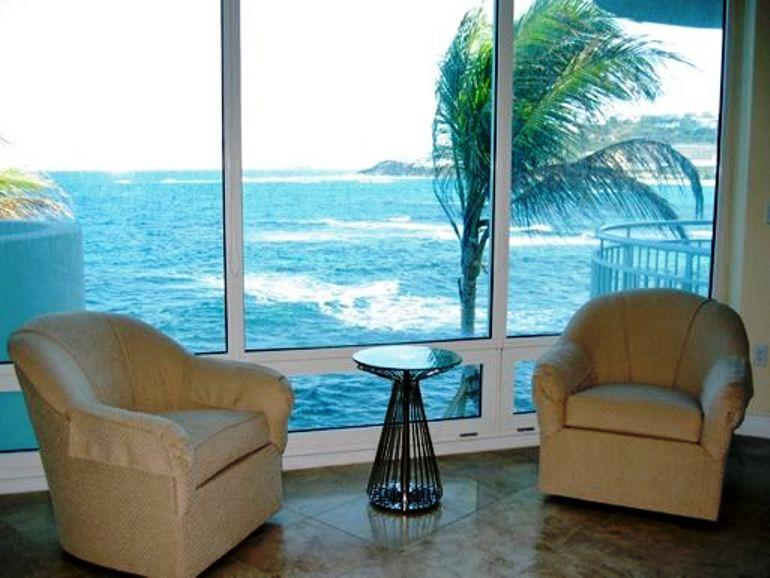 LIGHTHOUSE 2C... Stunning views, luxury oceanfront condo, short walk to - Image 1 - Oyster Pond - rentals
