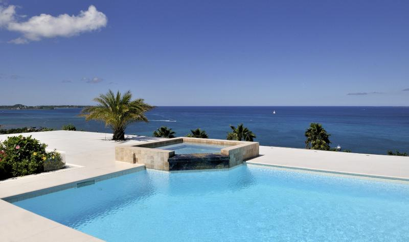 Dream in Blue...Happy Bay French St Martin - DREAMIN BLUE...  Gorgeous panoramic views from this stunning new villa in secluded, lovely Happy Bay - Saint Martin-Sint Maarten - rentals