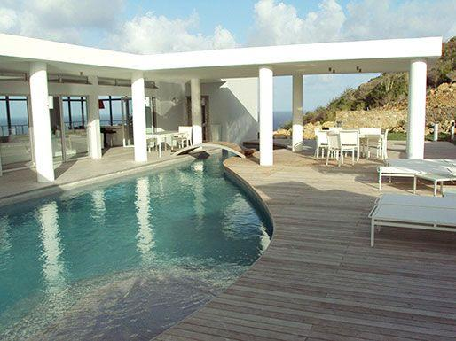 La Mirella...Oyster Pond, St Maarten - LA MIRELLA... Fabulous  contemporary St Maarten rental villa overlooking Oyster Pond and Dawn beach - Oyster Pond - rentals