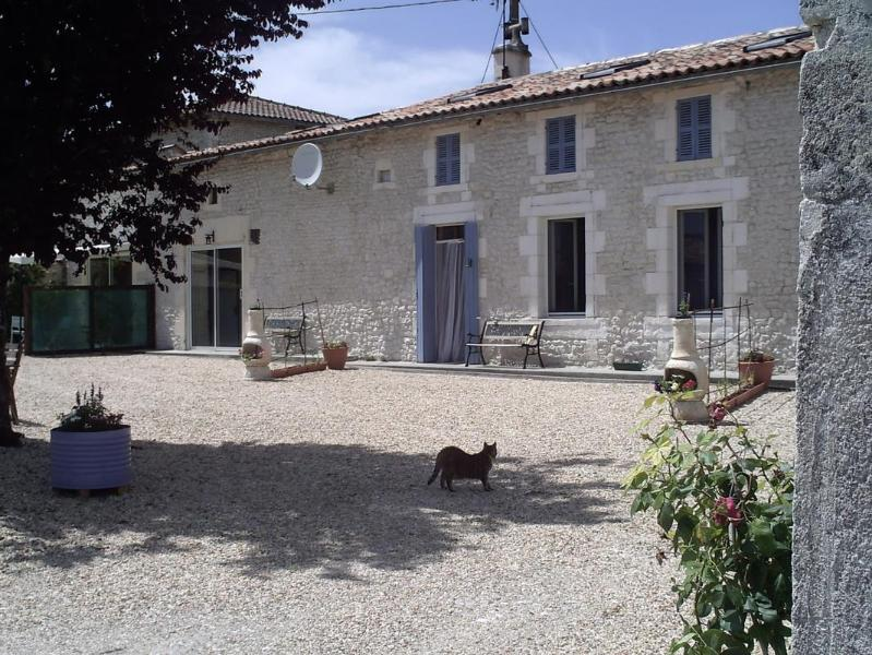 Our sunny enclosed courtyard - Chez Mamie- Farmhouse Gite in Charente Countryside - Jonzac - rentals