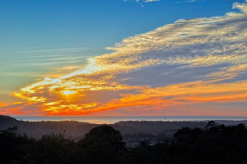 Sunset from Balcony - Ocean View Vacation Rental Estate with Pool - Santa Barbara - rentals